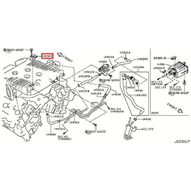 infiniti 22365-ey00b, fuel tank pressure sensor - walmart.com ...  walmart