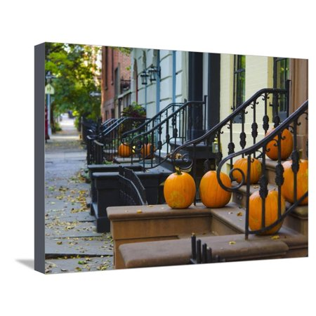 USA, New York, Brooklyn, Brooklyn Heights, Halloween Pumpkins Stretched Canvas Print Wall Art By Alan Copson](Brooklyn's Denver Halloween)