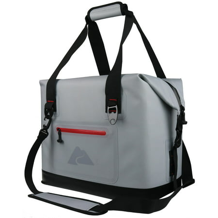Ozark Trail 50 Can Leaktight Cooler w/ Heat Welded Body, Gray