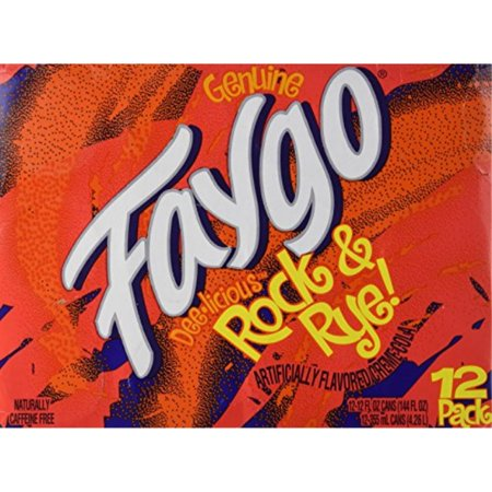 Rock Cab (Faygo - Rock & Rye! Soda - 12 Pack of 12-oz. Cans)