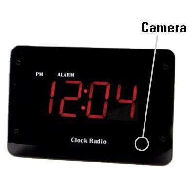 KJB Zone Shield 720p HD WiFi Clock Radio Hidden Camera wi...
