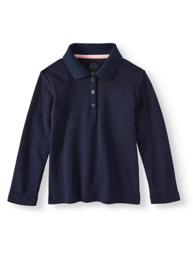 50ccf7b22 Product Image Toddler Girls School Uniform Long Sleeve Interlock Polo