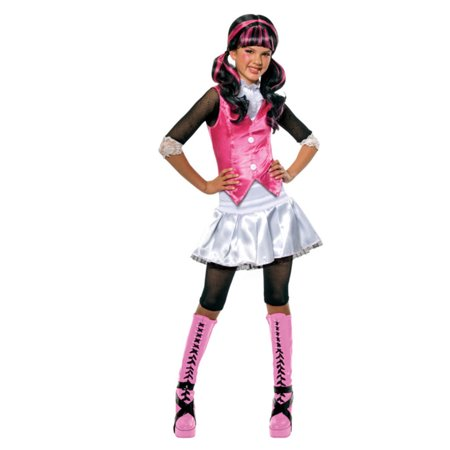 Girls Monster High Draculaura, Dracula Costume And Wig Bundle