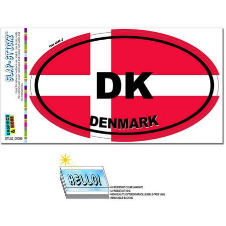 Denmark Country Flag DK Euro Oval Danish Flag Automotive Car Window Locker Bumper Sticker
