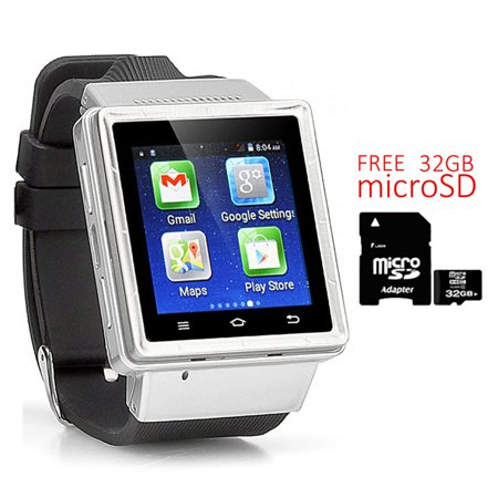 Indigi  Android 4 4  Smartwatch And Phone  3G Factory Unlocked    Built In Camera   Google Maps W  32Gb Microsd Included