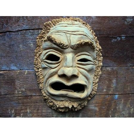 LAMINATED POSTER Aggression Craft Ceramic Fash Mask Art Poster Print 24 x 36