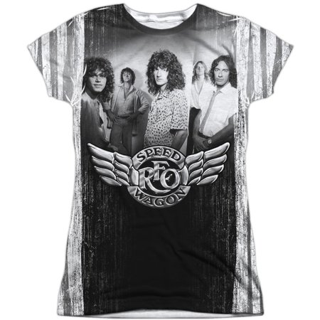 Reo Speedwagon  Want A Ride Girls Jr Sublimation White