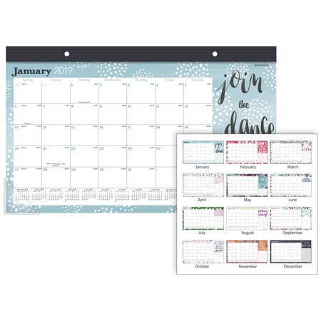 AT-A-GLANCE Pebble Compact Monthly Desk Pad Calendar - Calendars