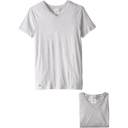 b2db25170e Lacoste Men's 3-Pack Essentials Collection V-Neck T-Shirts