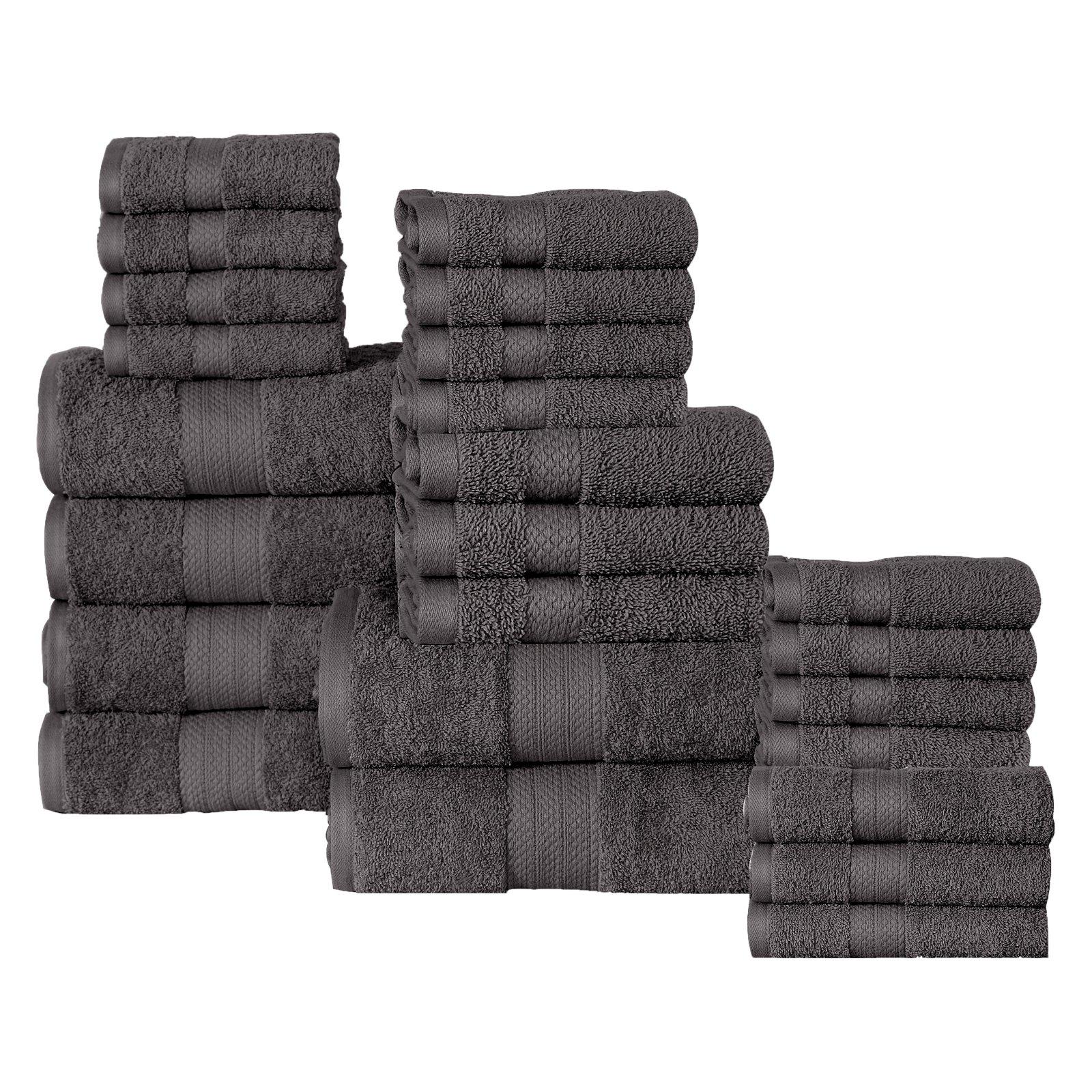 Affinity Linens 24 Piece Plush Cotton Bath Towel Set