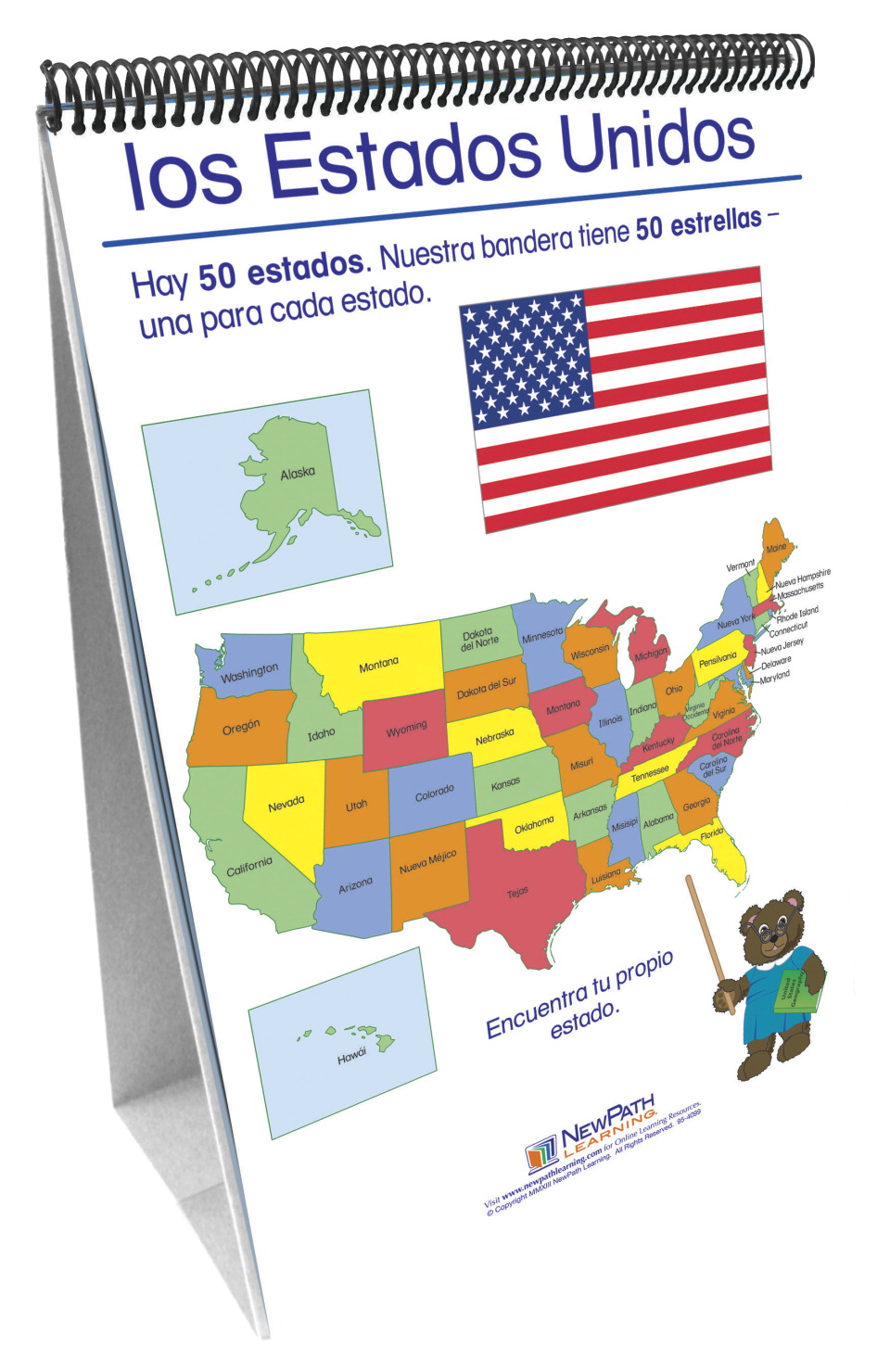 NewPath Geography Flip Chart, Spanish Edition, Grades K to 2 by Newpath Learning