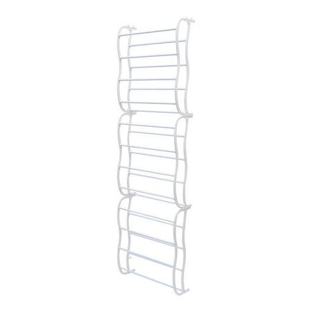 SortWise 36-Pair Shoe Rack Over The Door Shoe Shelf Storage Organizer, White - image 4 of 5
