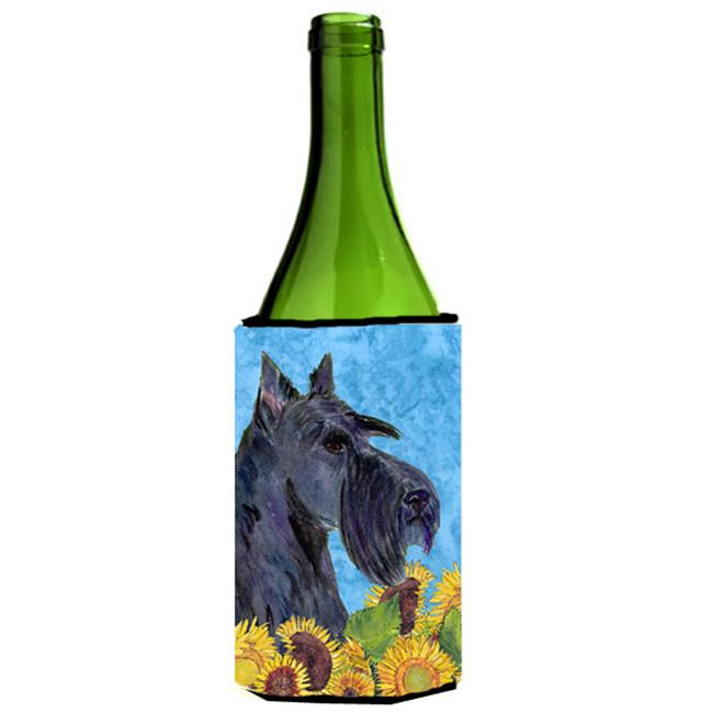 Scottish Terrier In Summer Flowers Wine bottle sleeve Hugger - 24 oz. - image 1 of 1