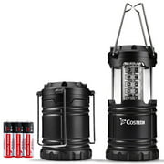Ultra Bright Camping Lantern, Costech 30 LED Portable Outdoor Lights, Hanging Flashlight Camping Gear Equipment with Batteries for Hurricane, Storm, Outage, Emergency. (1 Pack)