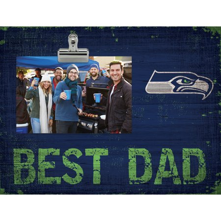 Seattle Seahawks 8'' x 10.5'' Best Dad Clip Frame - No Size (Best Seattle Bars For Halloween)