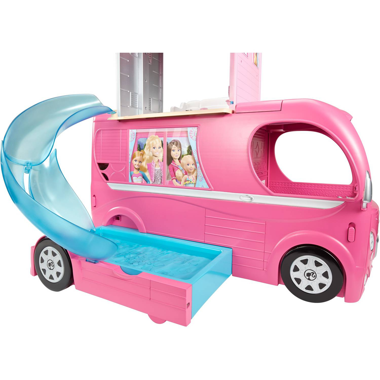 Barbie Pop Up Camper Playset Pool Swimming Glam Van Girls Toys Barbies Popup Ebay