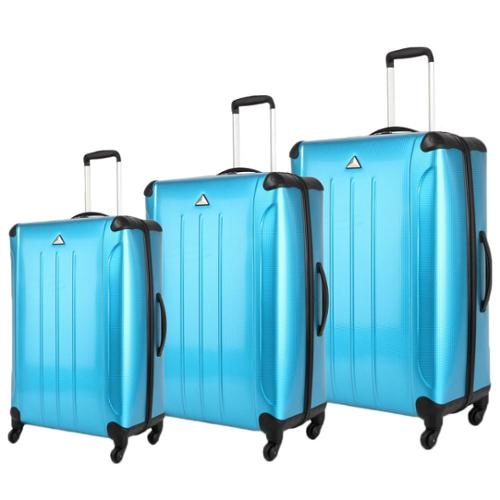Triforce Apex 101 Collection 3-piece Hardside Spinner Luggage Set Turquoise