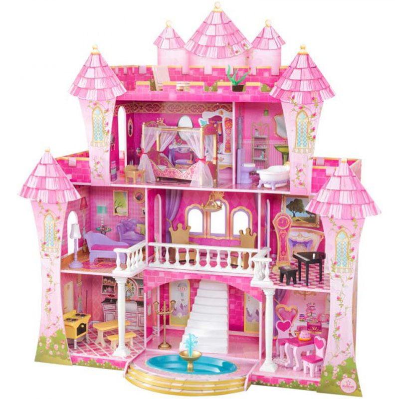 KidKraft 23 Piece Far Far Away Dollhouse in Pink by KidKraft