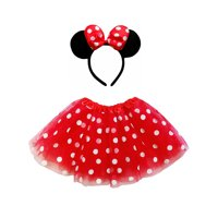 So Sydney Kids Teen Adult Plus 2Pc Minnie Tutu Skirt, Ears, Tail Headband Costume Halloween Outfit