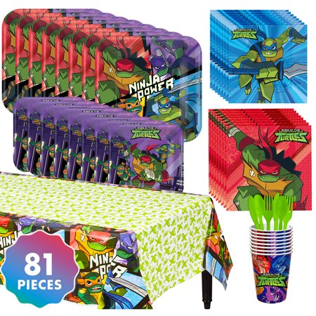 Party City Teenage Mutant Ninja Turtles Tableware Kit for 8 Guests, With Plates - Party City Products