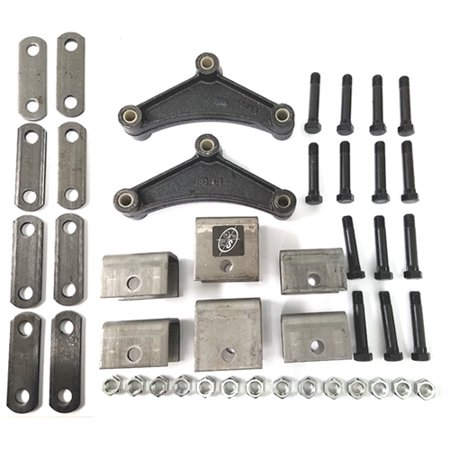 Triple Axle Hanger - Tandem Trailer Axle Hanger Kit for Double Eye Springs (3.5K)
