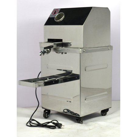 INTBUYING Vertical Electric Sugar Cane Juicer Press Machine Sweet Sorghum 3 Rolls SS 110V 134110 ()