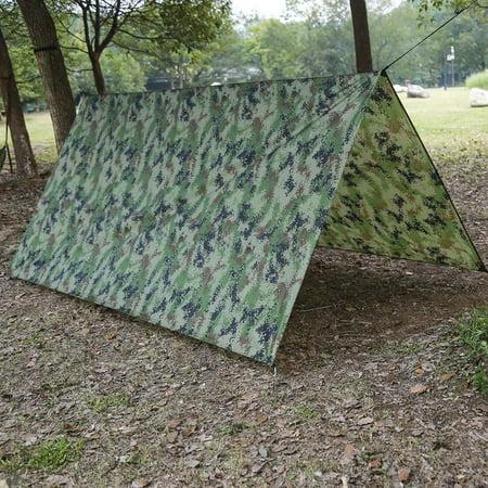 Qiilu Waterproof UV protection Extra Heavy Duty Shade Sail Sun Canopy Outdoor , Waterproof  Shade, Tent Tarp - image 5 of 7