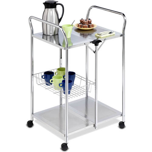Honey Can Do Deluxe Foldable Push Cart, Chrome