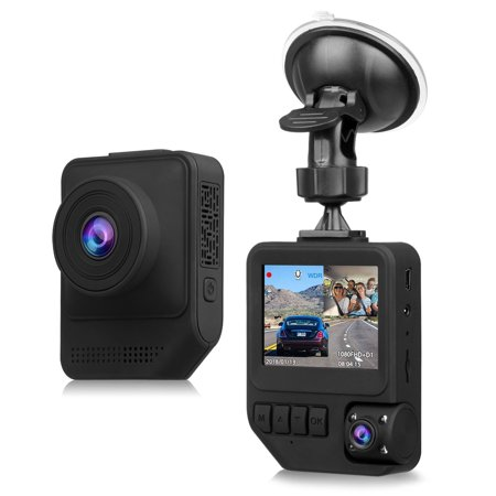 Dual Dash Cam, T818 1080P Full HD Cars Front and Inside Dash Camera with Suction Cup Mount with 170°Wide Angle Lens Night Vision G-Sensor Parking Monitor Motion Detection