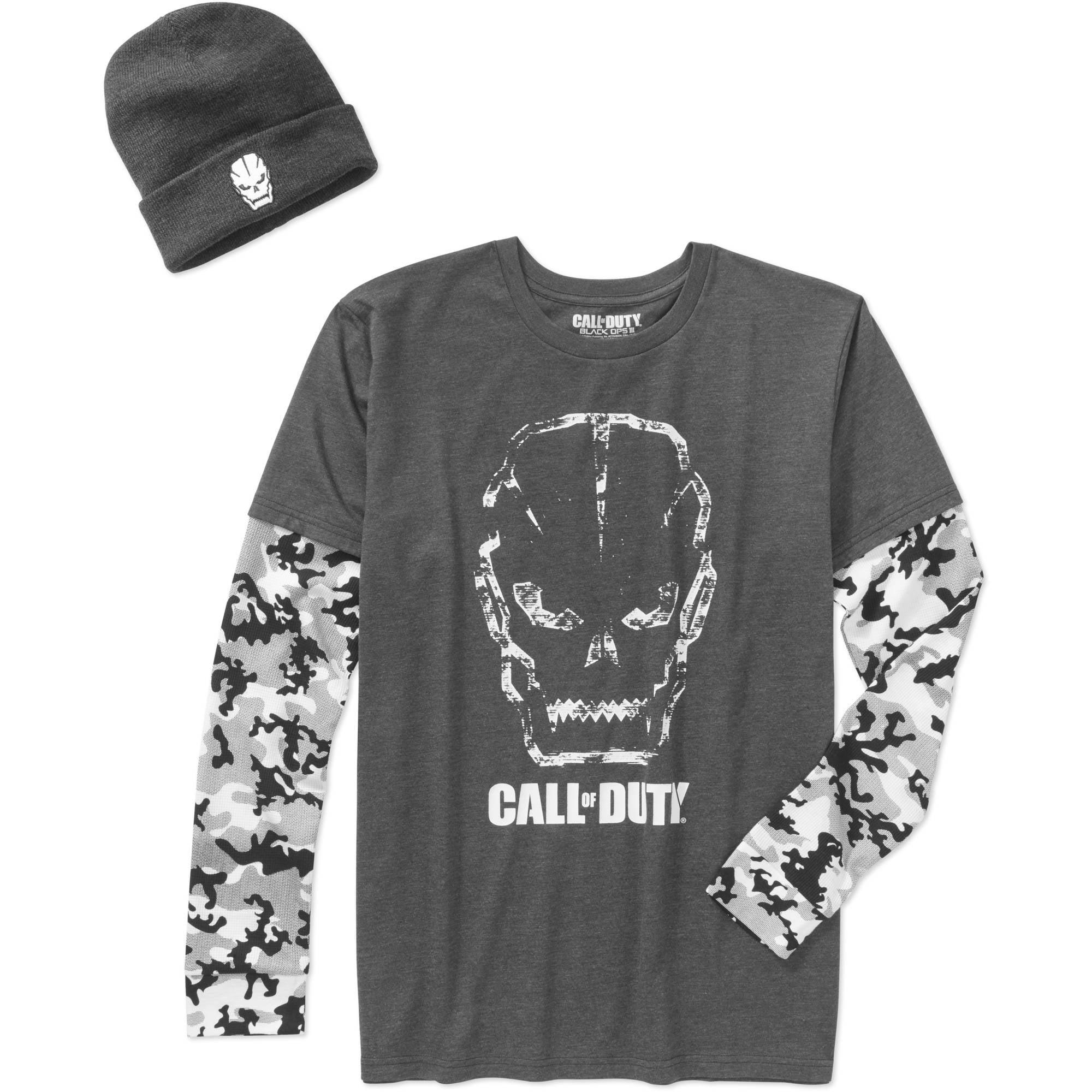 Call of Duty Men's Shirt & Beanie Combo