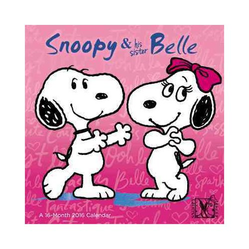 Snoopy & His Sister Belle 2016 Calendar