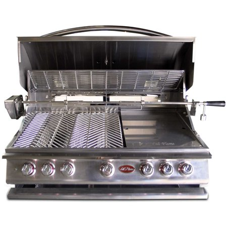 Crown Gas Rotisserie (5-Burner Built-In Stainless Steel Gas Grill with Rotisserie)