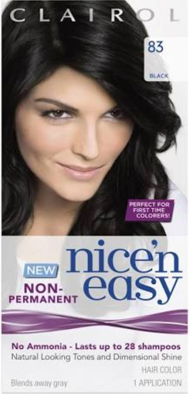 4 Pack Clairol Nice N Easy Non Permanent Hair Color Black 83 1