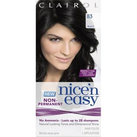 Clairol Nice \'n Easy Non-Permanent Hair Color Black 83 1 Each ...
