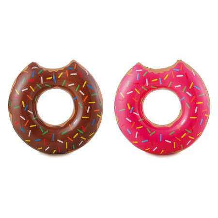 Summer Waves Chocolate or Strawberry Pink Donut Inflatable Pool Float (3 Pack) - image 4 of 8