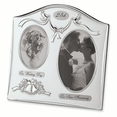 Satin Silver Plated 25th Anniversary Photo Frame Th Album Gifts For Women For Her - 25th Anniversary Silver