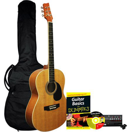 Learn to Play Kona Acoustic Guitar Starter Pack For (Best Mid Range Acoustic Guitar)