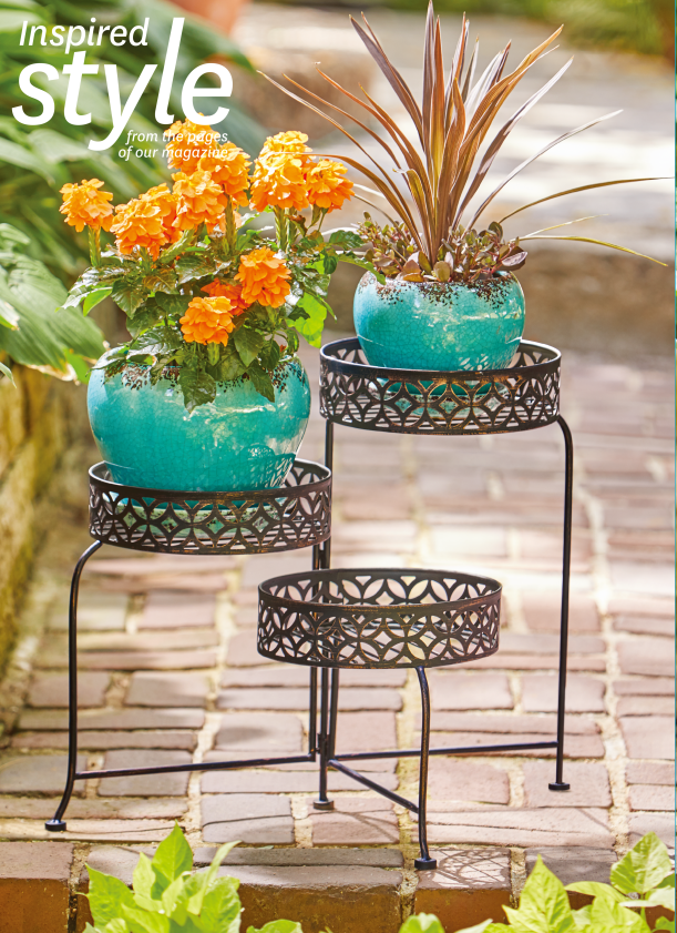 Better Homes and Gardens 3 Tier Outdoor Lattice Plant Stand by SHANDONG EXCEL LIGHT INDUSTRIAL PRODUCTS CO LTD