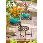 Better Homes and Gardens 3 Tier Outdoor Lattice Plant Stand