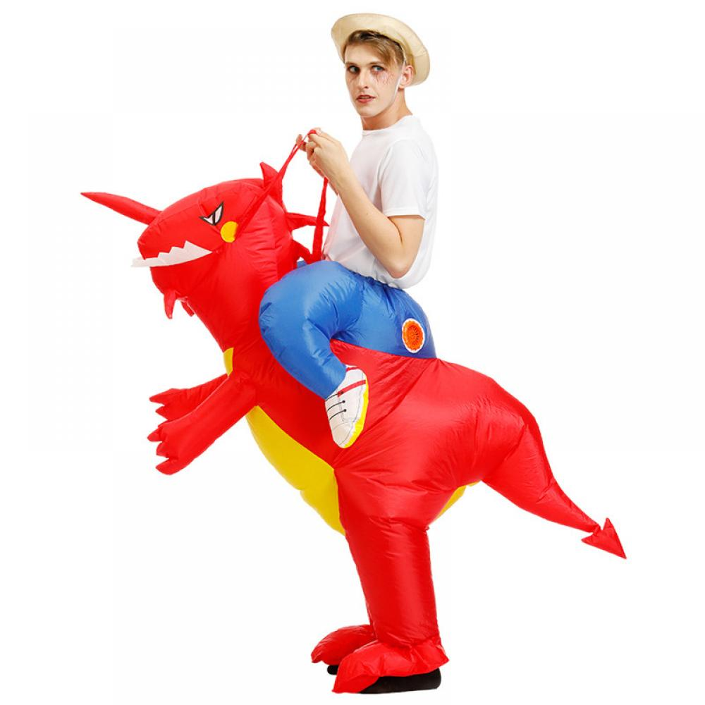 Details about  /Inflatable Air Gym Track Toy Dinosaur Costume Child Adults Outfit