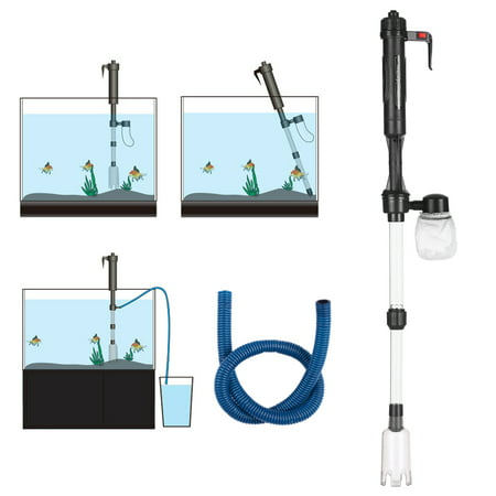 Electric Aquarium Fish Tank Water Changer Sand Washer Vacuum Siphon Operated Gravel Cleaner Aquarium Cleaning Tool