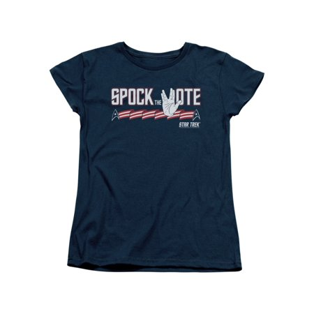 Star Trek Next Generation TV Series Spock The Vote Women's T-Shirt - Star Trek Shirt Womens
