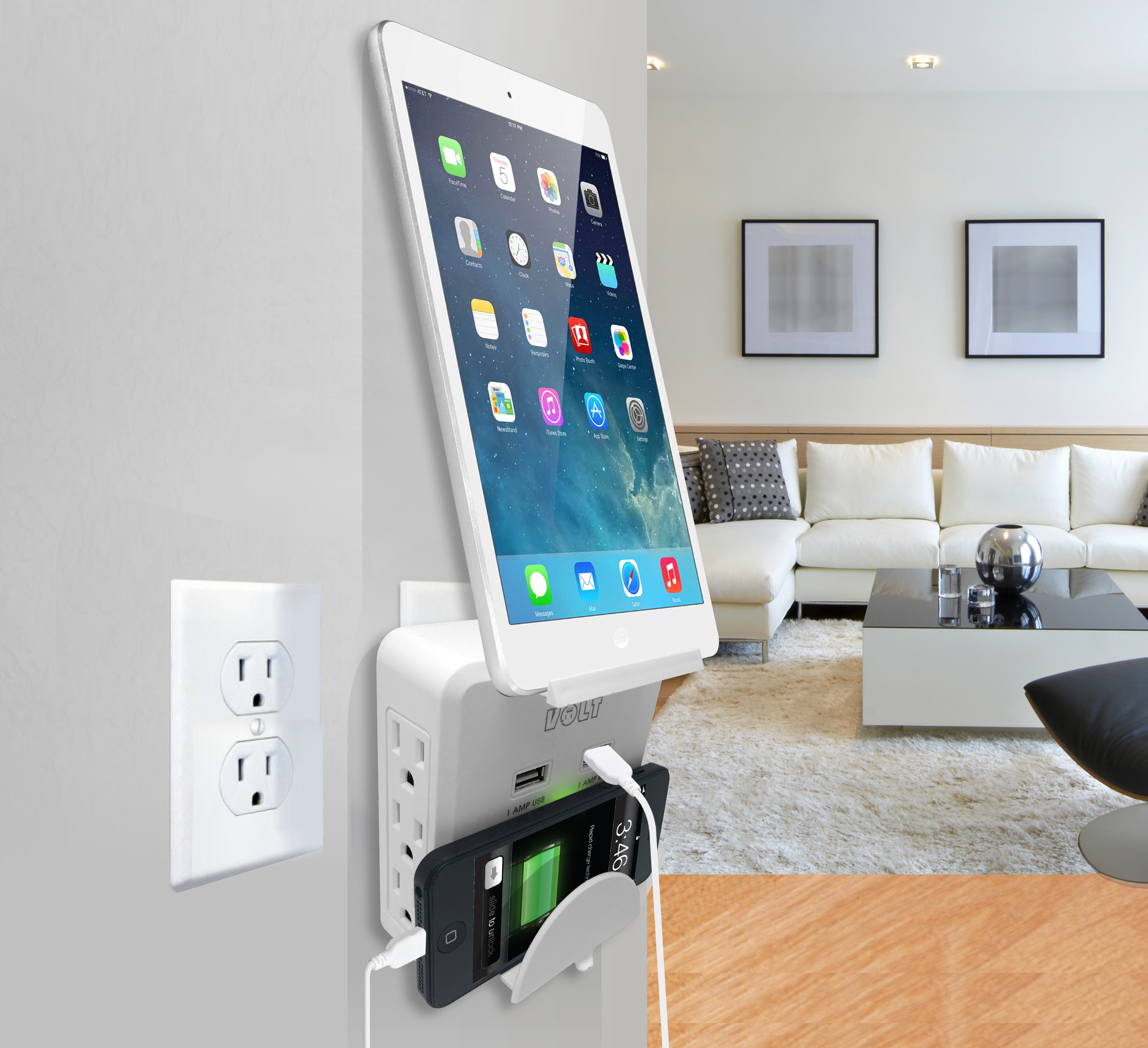 Ordinaire Home/Office Charging Station 2 USB Ports And 6 AC Outlets