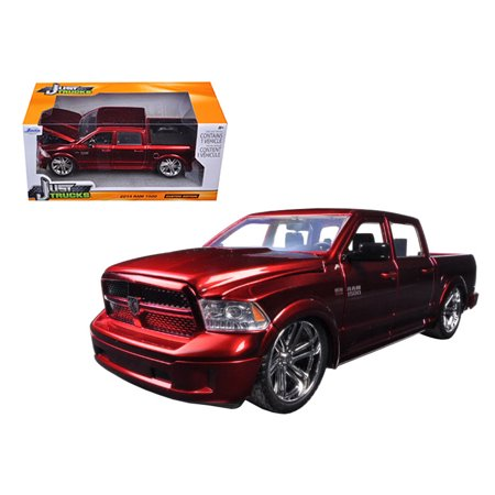 2014 Dodge Ram 1500 Pick Up Truck Red Custom Edition 1/24 Diecast Model by Jada