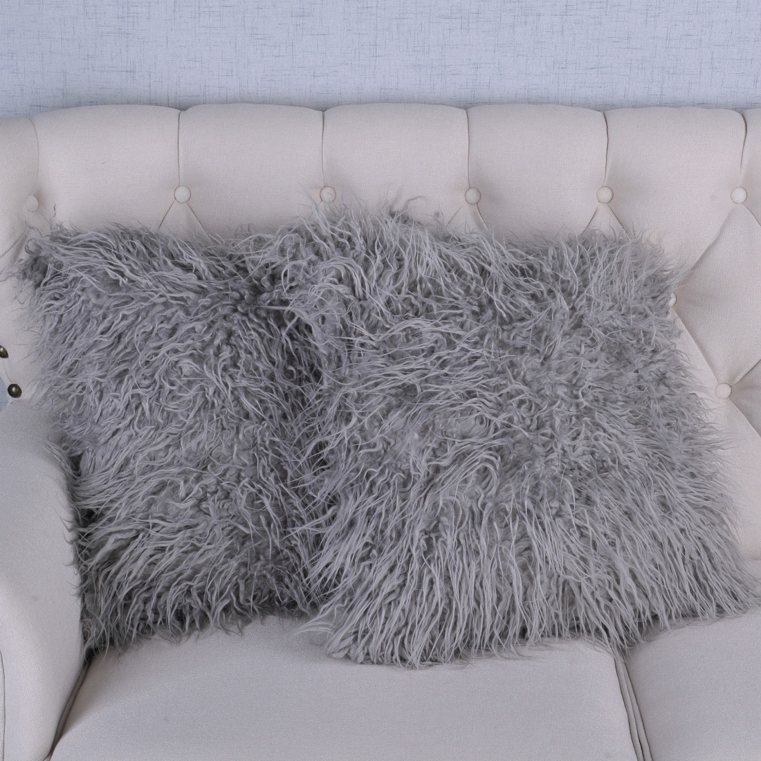 Serenta Mongolian Faux Fur Pillow Shell Set