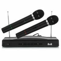 Noroomaknet Wireles Karaoke Microphone for Sing,AT-306 Wireless Dual Handheld Microphone KTV Bar Stage Equipment Black