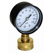 WSPHG100 Water Pressure Test Gauge, 100 PSI - Quantity 1