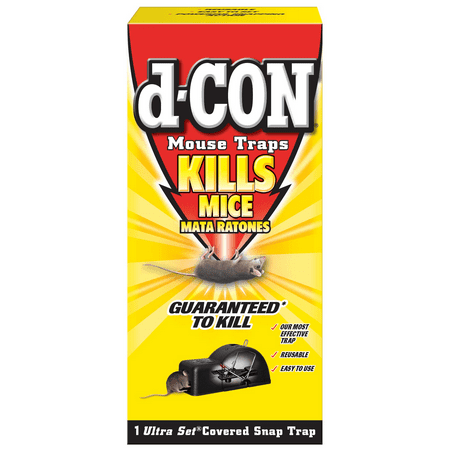 d-CON Reusable Covered Mouse Snap Trap, 1 Trap