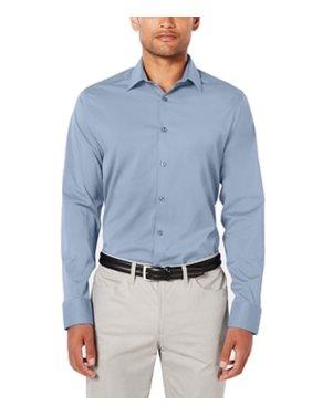 Mens Small Solid Long Sleeve Dress Shirt $79 S