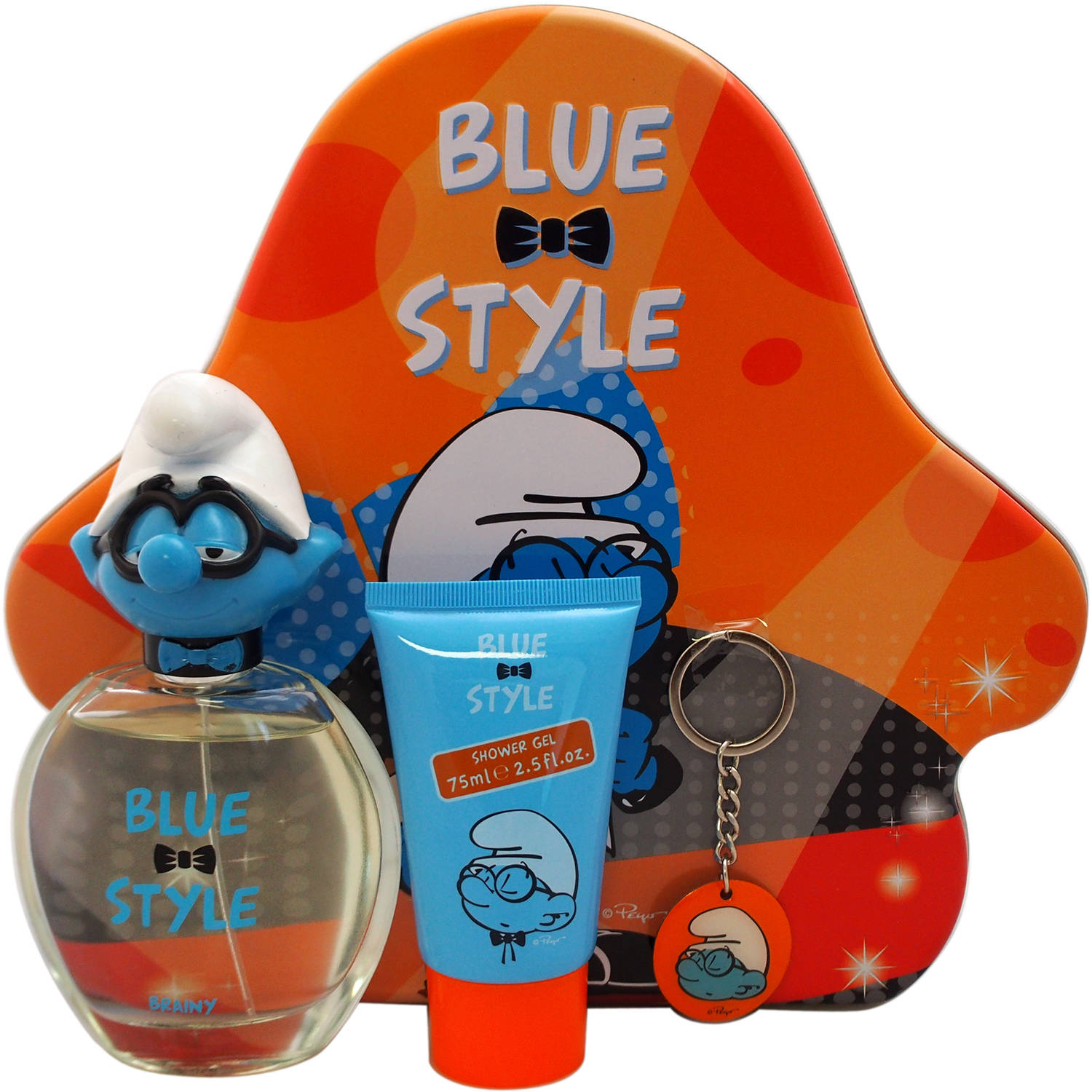 First American Brands The Smurfs Blue Style Brainy Gift Set for Kids, 3 pc
